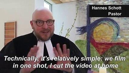 Coronavirus: Bavarian pastor holds YouTube mass for confined congregation