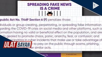 DICT, tumutulong na sa pagsugpo sa fake news