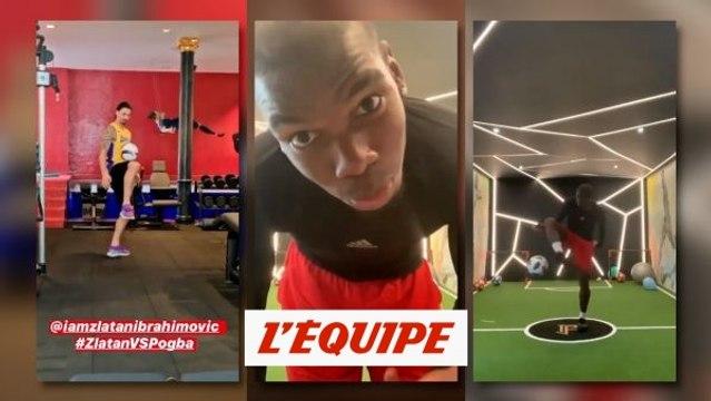 Pogba et Ibrahimovic se défient sur les réseaux sociaux - Foot - WTF