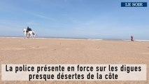Vacances de Pâques: la police présente en force sur les digues presque désertes de la côte