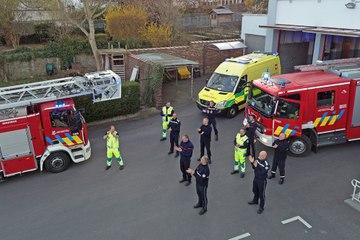 VERVIERS - Les pompiers rendent un vibrant hommage sonore au personnel soignant