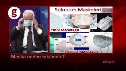 Elazığ'da bir televizyonda sunucu ve konuk maske takarak program yaptı