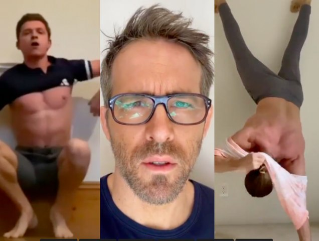 Tom Holland challenges Ryan Reynolds & Jake Gyllenhaal - Lockdown Fitness Challenge