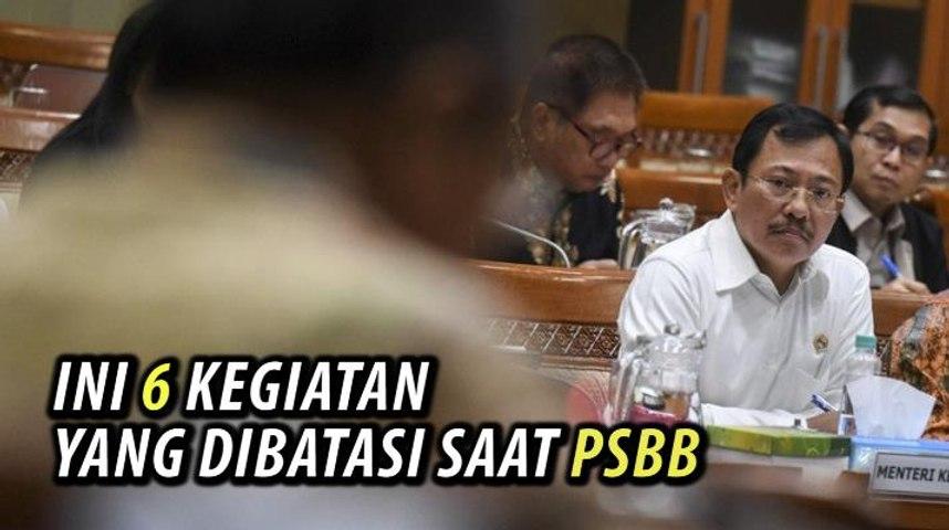 Video 6 Kegiatan yang Dibatasi saat PSBB