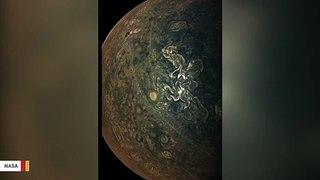 NASA Spacecraft Captures Mysterious Streaks Of Haze On Jupiter