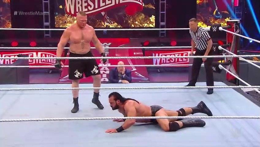 WWE Wrestlemania 36 5 April 2020- Part-4 Brock Lesnar vs Drew McIntyre