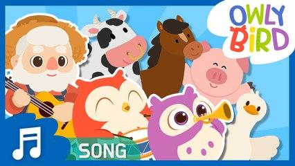 Old MacDonald Had a Farm | Famous Nursery Rhymes | Songs for Kids | OwlyBird