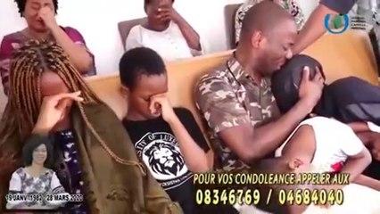 """Le """"Général"""" Camille Makosso et ses enfants pleurent la disparition de sa femme"""
