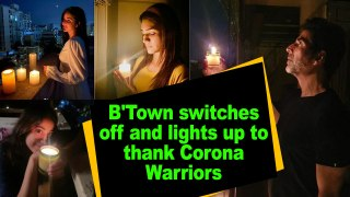 B'Town switches off and lights up to thank Corona Warriors