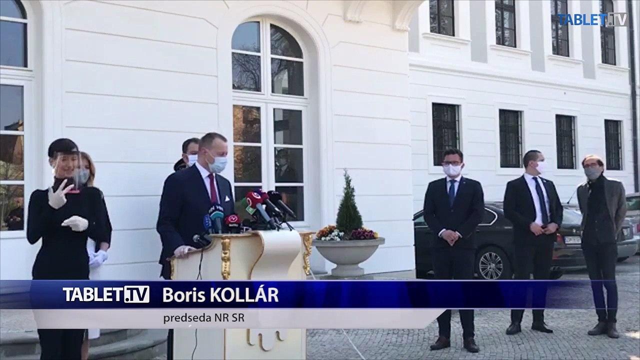 ZÁZNAM: Prezidentka SR Z. Čaputová prijala predsedu vlády SR I. Matoviča a predsedu NR SR B. Kollára