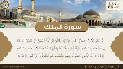 الشيخ أحمد الدباغ - سورة الملك منجية من عذاب القبر لمن يحافظ على قرائتها في ليلته قبل نومه