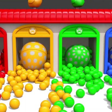 Learn Colors With Animal - Learn Colors with Bunny Mold and Microwave Toy Fruits Squishy Ball for Kids Children