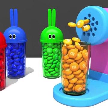 Kids Toy Videos US - Aprender colores conejito molde y pasta espagueti haciendo juguete dedo familia canción para niños