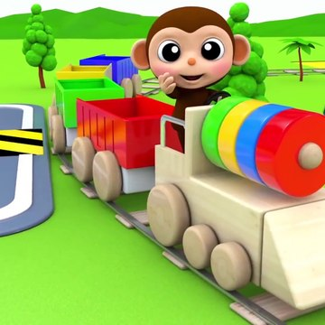 Aprenda colores para niños l Learn Colors for Children with Baby Monkey Toy Train Wheels On The Bus Nursery Rhymes Kid