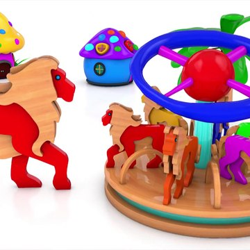Learn Colors With Animal - Wrong Keys Elephant Train Toys For Kids -Colors Cages wooden Animals Matching Game Train tracks Set