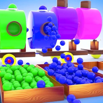 Learn Colors and Shapes for Children with A Lot of 3D Color Balls Wooden Hammer Kids Learning Shapes