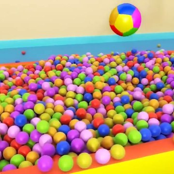 Kids Toy Videos US - Aprender colores números formas 3D Educational Playground Slide Balls Collection For Kids - Learn Colors Numbers Shapes 3D
