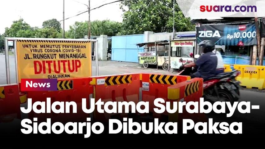 Ditlantas Polda Jatim Buka Paksa Penutupan Jalan Utama Surabaya-Sidoarjo yang Resahkan Pengguna Jalan