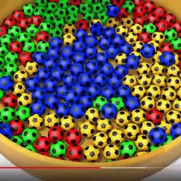 Learn Colors With Soccer Balls Invisible Bottle -h