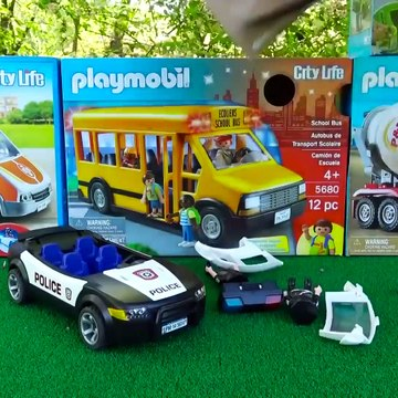 Toy For Kids - Fire Truck, Police Cars, Dump Truck Toys Unboxing PLAYMOBIL Vehicles for Kids