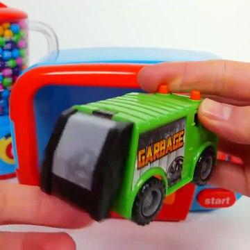 Kids Toy Videos US - licuadora colores para Niños Aprender microonda jugar vehículos con