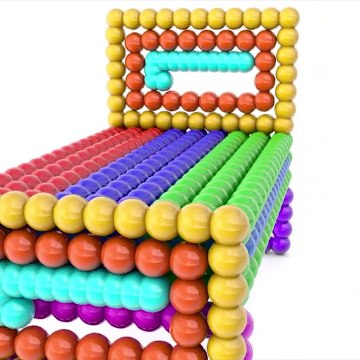 LEARN COLORS KIDS With Lot Of Marble Balls Form 3D Bed Fun Play Rainbow colours Songs For Children