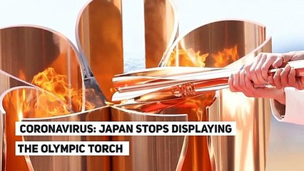 CORONAVIRUS: JAPAN STOPS DISPLAYING THE OLYMPIC TORCH