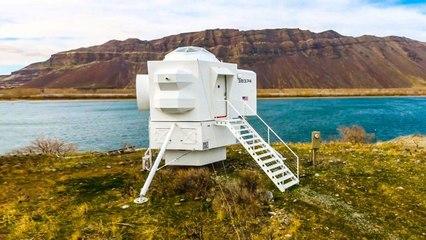 Inside a Precisely Designed Lunar Lander Replica House