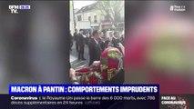 En plein confinement, les images polémiques d'attroupement autour d'Emmanuel Macron à Pantin