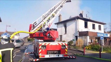 Chaligny : un appartement et un commerce détruits par un incendie