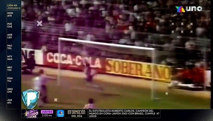 Hace 32 años Hugo Sánchez anotó un golazo de chilena con el Real Madrid.   Azteca Deportes