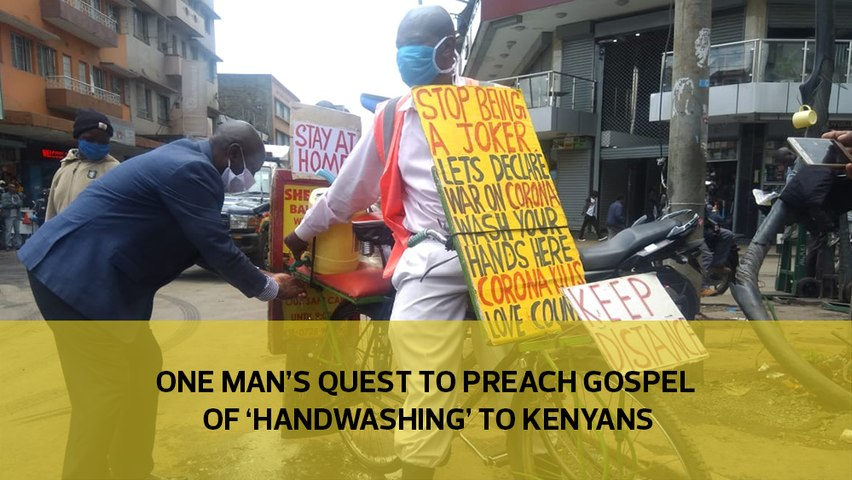 One man's quest to 'preach the gospel of handwashing' to Kenyans