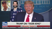 President Donald Trump Speaks on The Free Joe Exotic Tiger King Movement at Press Conference Responding to his Son Don Jr