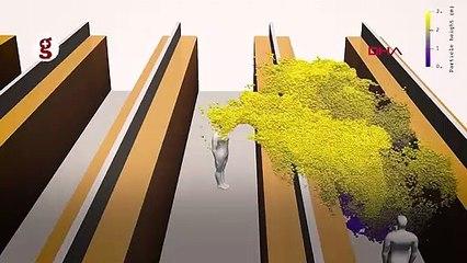 Simülasyon: Hapşırmanın ardından mikrodamlacıklar nasıl yayılıyor