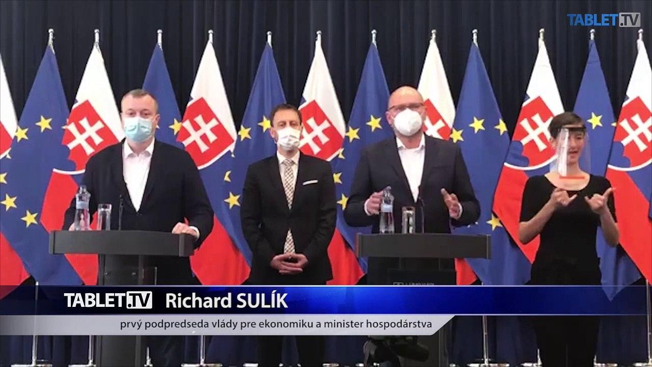 ZÁZNAM: Tlačová konferencia ministra práce M. Krajniaka, ministra financií E. Hegera, ministra hospodárstva R. Sulíka