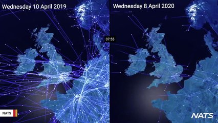 Video Shows Air Traffic Before And After Coronavirus Outbreak