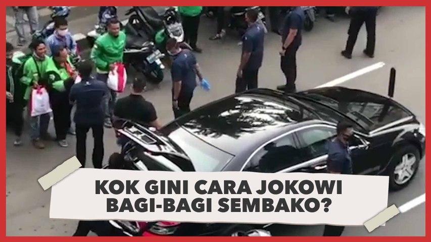 Dikritik Warganet, Cara Jokowi Bagi-bagi Sembako dari Mobil