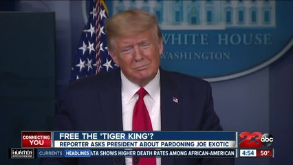 'Tiger King' makes its way to President Trump