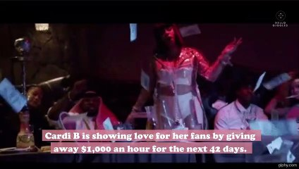 Cardi B is giving away $1,000 an hour to fans in need amid coronavirus