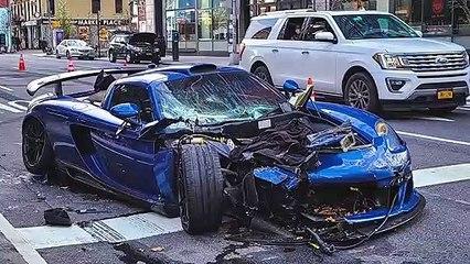 فيديو تحطم سيارة خارقة في شوارع نيويورك