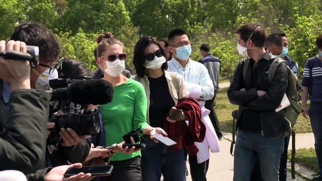 Coronavirus: Wuhan seen from the air as lockdown lifted