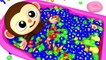 Learn Colors with Monkey and Ball Nursery Rhymes Kid Song