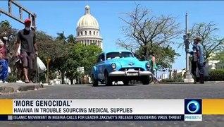 Cuba slams US sanctions during virus pandemic