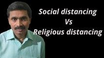 Social distancing vs Religious distancing