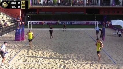 France vs Bresil Alison_Alvaro_Filho vs Aye_Gauthier_Rat_ FIVB_BVB_WT19_Rome_World Tour Finals_06 09 2019_