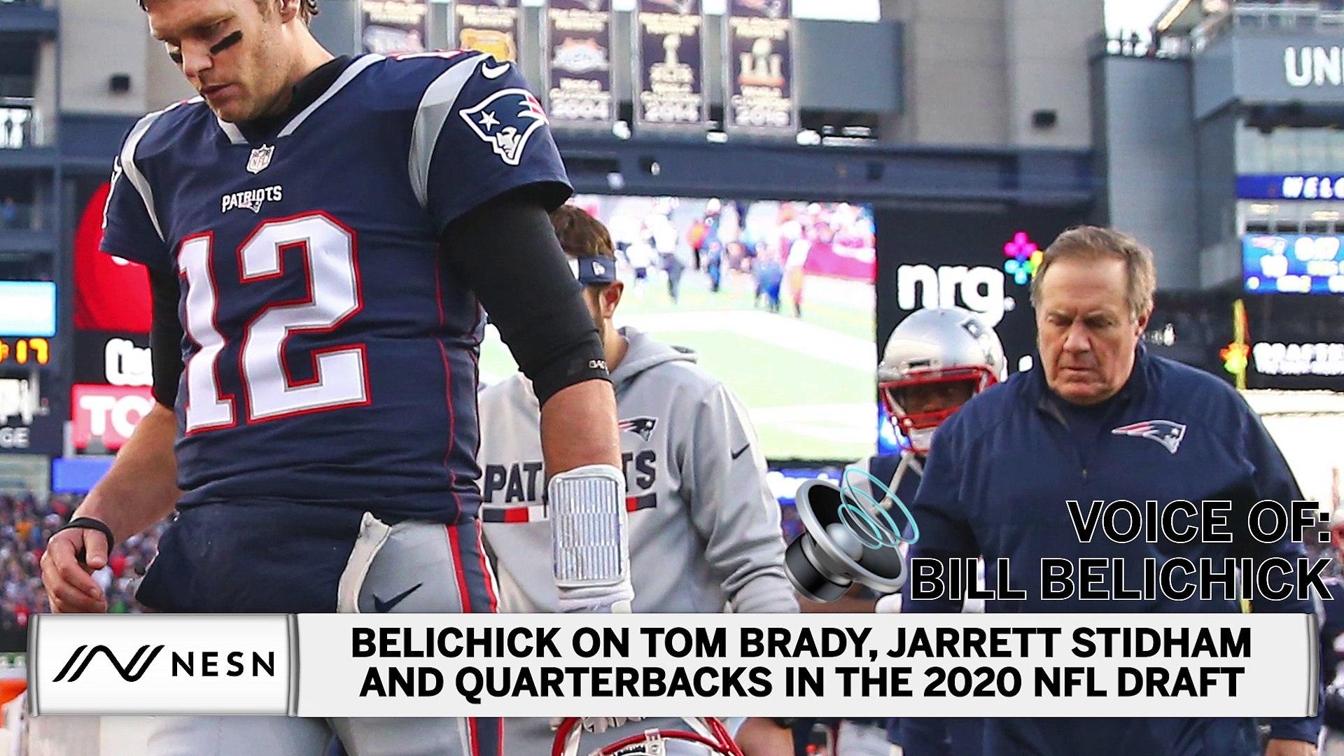 Bill Belichick Talks Tom Brady Jarrett Stidham And Qbs In Nfl Draft Video Dailymotion