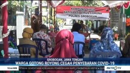 Warga Grobogan Bentuk Kampung Siaga Virus Corona