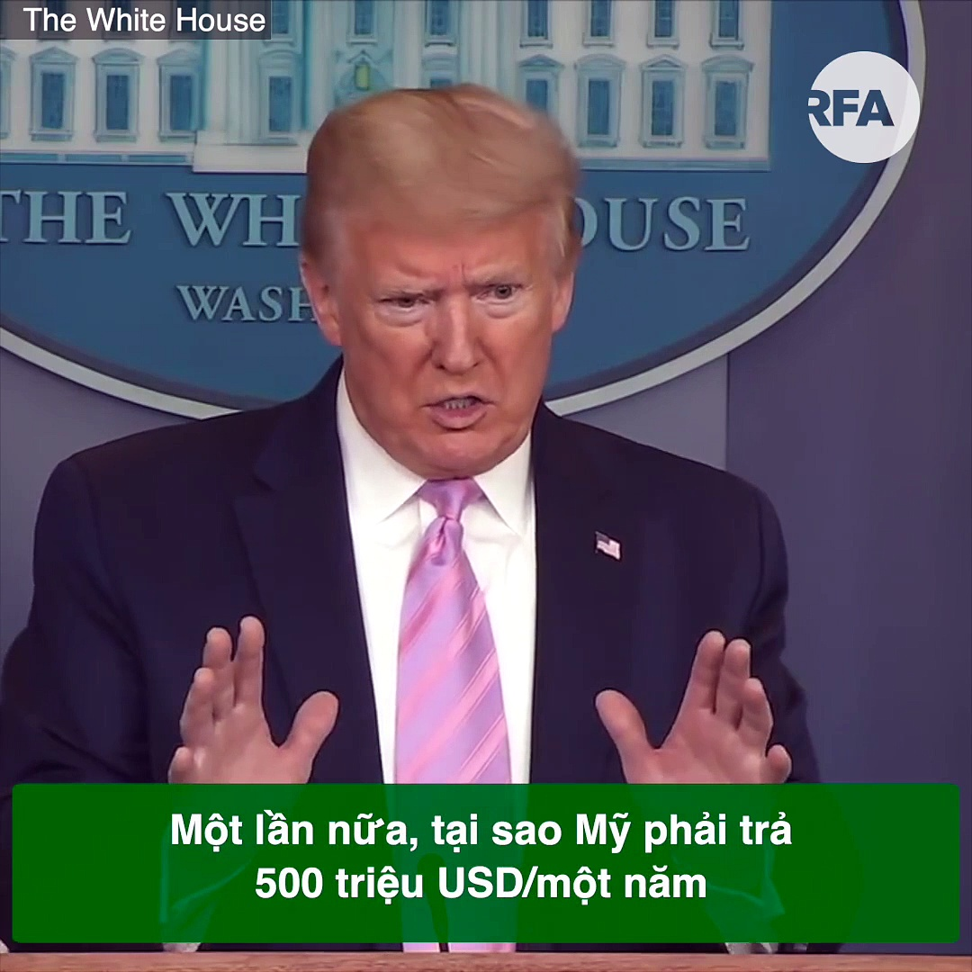 President Donald Trump responded on eliminating funding to the World Health Organization WHO