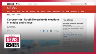 Foreign press outlets highlight S. Korea's general election amid COVID-19 pandemic