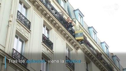 Un reto musical para sobrellevar la cuarentena en una calle de París